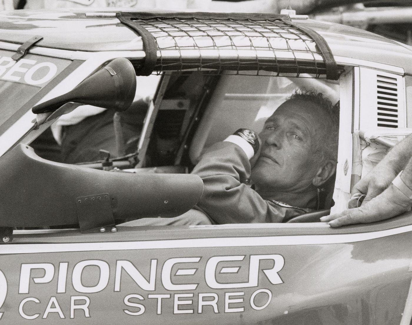 Paul Newman Driving with watch Rolex Daytona iws italianwatchspotter