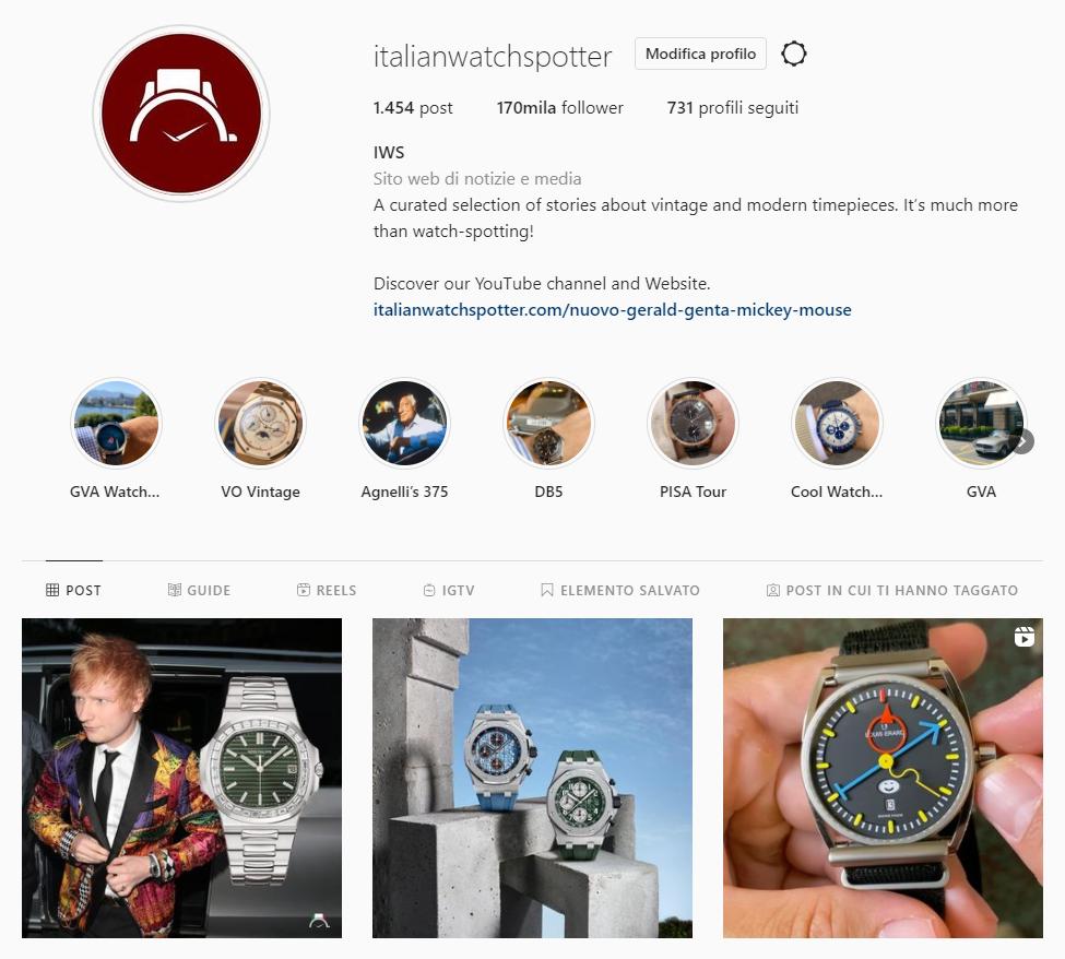 instagram iws italian watch spotter
